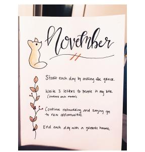 November intentions